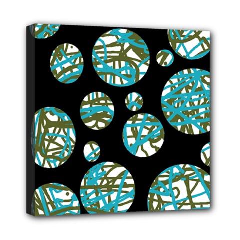Decorative blue abstract design Mini Canvas 8  x 8