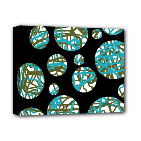 Decorative blue abstract design Deluxe Canvas 14  x 11