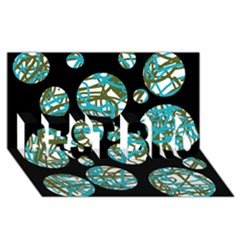 Decorative Blue Abstract Design Best Bro 3d Greeting Card (8x4)