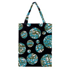 Decorative blue abstract design Classic Tote Bag