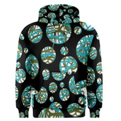 Decorative blue abstract design Men s Pullover Hoodie