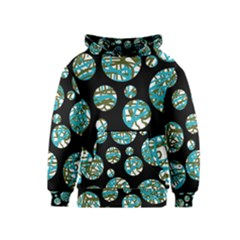 Decorative blue abstract design Kids  Pullover Hoodie