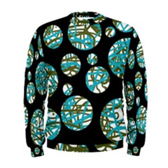Decorative blue abstract design Men s Sweatshirt