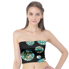 Decorative blue abstract design Tube Top