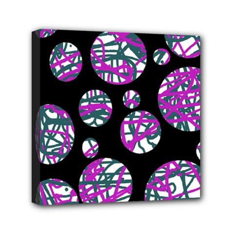 Purple decorative design Mini Canvas 6  x 6