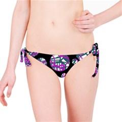 Purple decorative design Bikini Bottom