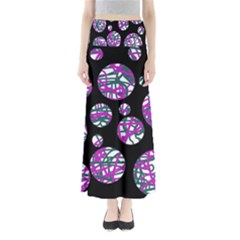 Purple decorative design Maxi Skirts