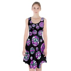 Purple decorative design Racerback Midi Dress