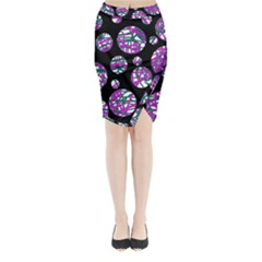 Purple decorative design Midi Wrap Pencil Skirt
