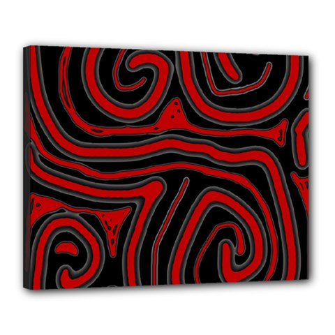 Red and black abstraction Canvas 20  x 16