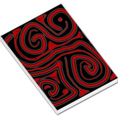 Red and black abstraction Large Memo Pads