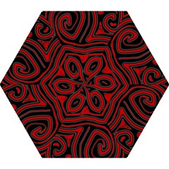 Red and black abstraction Mini Folding Umbrellas