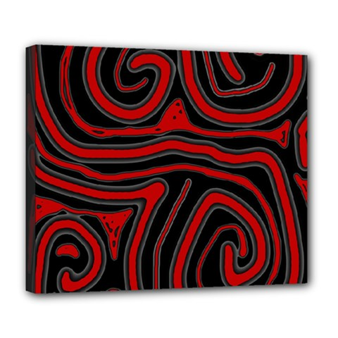 Red and black abstraction Deluxe Canvas 24  x 20