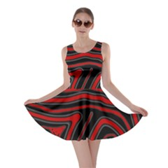 Red and black abstraction Skater Dress