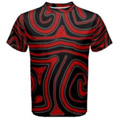 Red and black abstraction Men s Cotton Tee