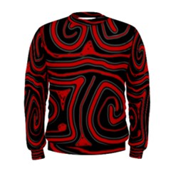 Red and black abstraction Men s Sweatshirt