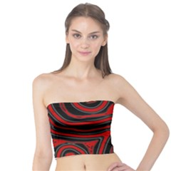 Red and black abstraction Tube Top