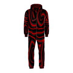 Red and black abstraction Hooded Jumpsuit (Kids)