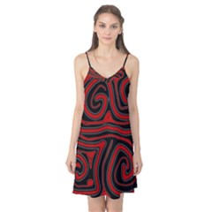 Red and black abstraction Camis Nightgown