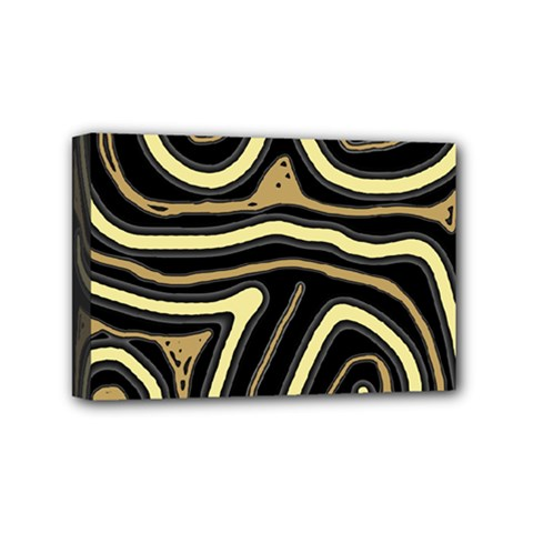 Brown elegant abstraction Mini Canvas 6  x 4