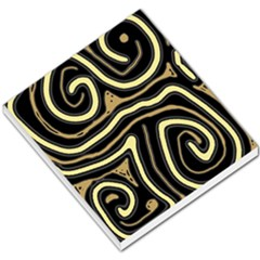 Brown elegant abstraction Small Memo Pads