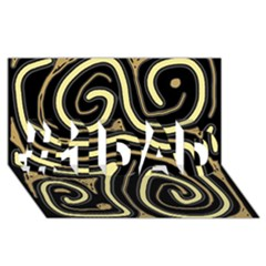 Brown elegant abstraction #1 DAD 3D Greeting Card (8x4)