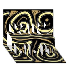 Brown elegant abstraction You Did It 3D Greeting Card (7x5)