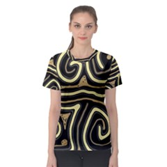 Brown Elegant Abstraction Women s Sport Mesh Tee
