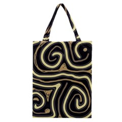 Brown elegant abstraction Classic Tote Bag