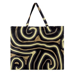 Brown elegant abstraction Zipper Large Tote Bag