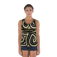Brown elegant abstraction Women s Sport Tank Top