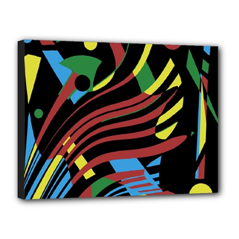 Colorful decorative abstrat design Canvas 16  x 12