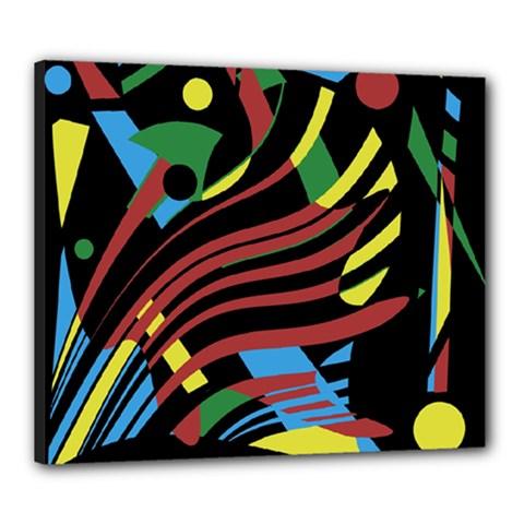 Colorful decorative abstrat design Canvas 24  x 20