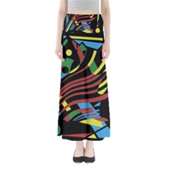 Colorful decorative abstrat design Maxi Skirts