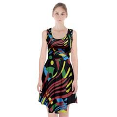 Colorful decorative abstrat design Racerback Midi Dress