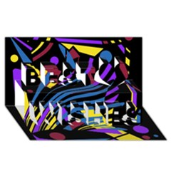 Decorative abstract design Best Wish 3D Greeting Card (8x4)
