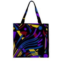 Decorative abstract design Zipper Grocery Tote Bag