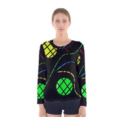Colorful design Women s Long Sleeve Tee