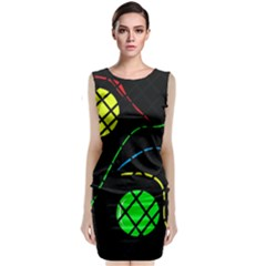 Colorful design Classic Sleeveless Midi Dress