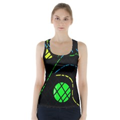Colorful design Racer Back Sports Top