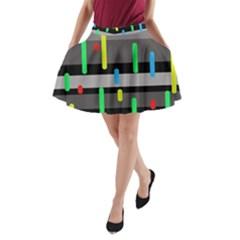 Colorful pattern A-Line Pocket Skirt