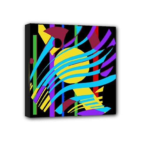 Colorful abstract art Mini Canvas 4  x 4