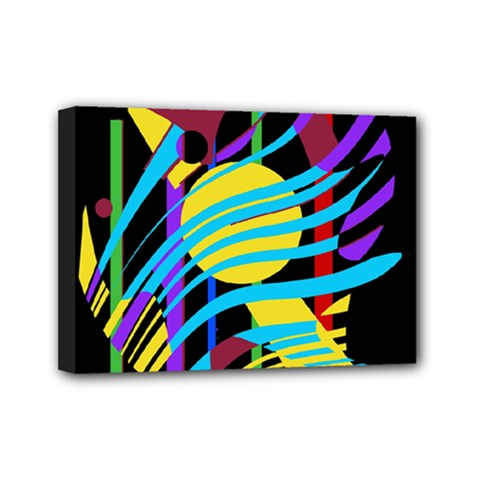 Colorful abstract art Mini Canvas 7  x 5