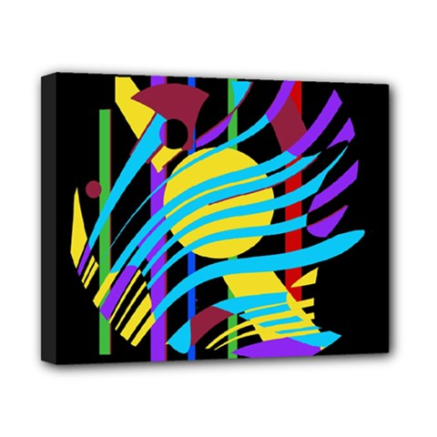 Colorful abstract art Canvas 10  x 8