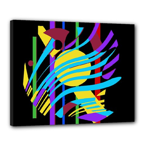 Colorful abstract art Canvas 20  x 16