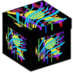 Colorful abstract art Storage Stool 12