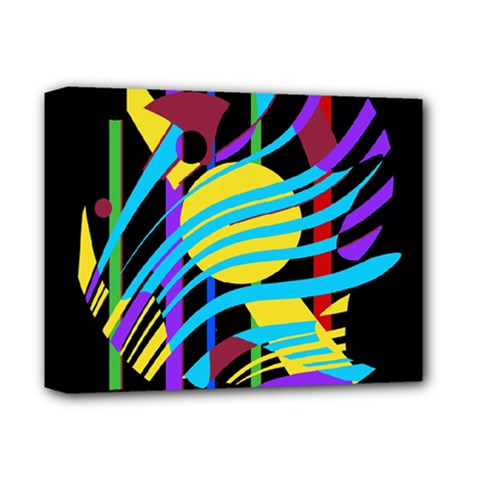Colorful abstract art Deluxe Canvas 14  x 11