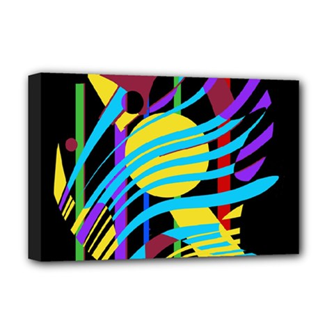 Colorful abstract art Deluxe Canvas 18  x 12