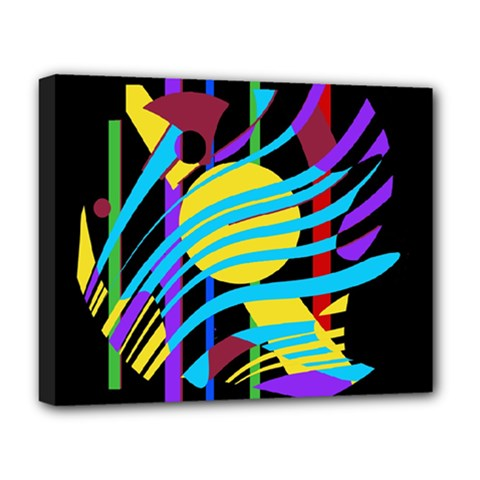 Colorful abstract art Deluxe Canvas 20  x 16