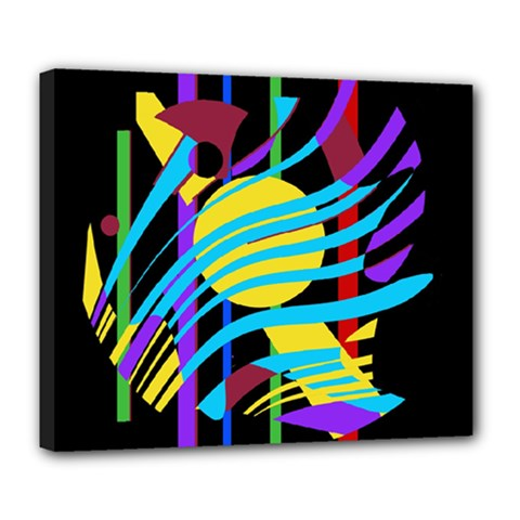 Colorful abstract art Deluxe Canvas 24  x 20